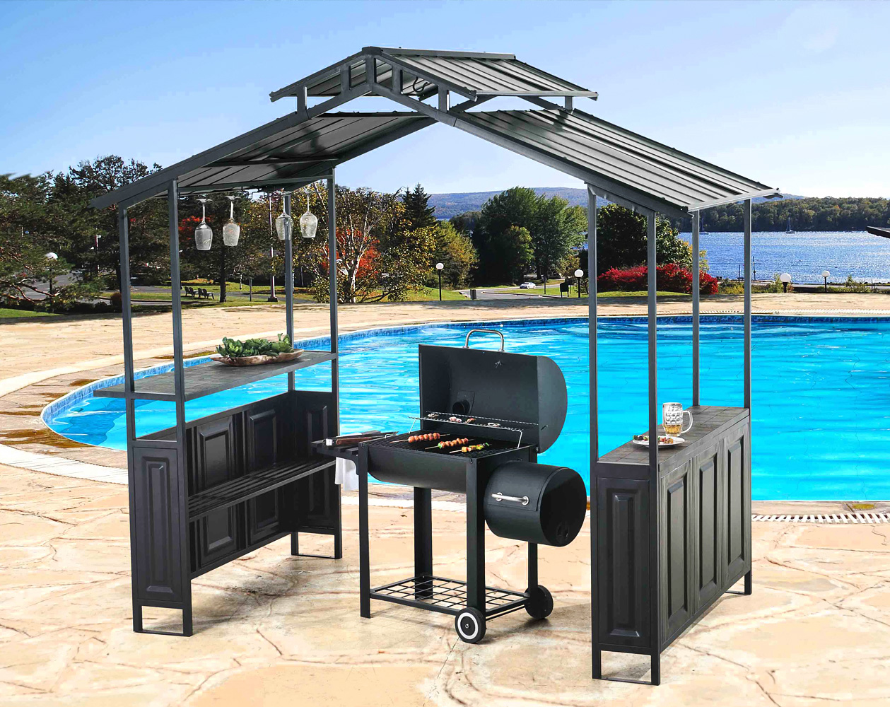 Gentil Grill Gazebo. Our Outdoor Furniture Collection Is Beautifully Styled,  Weather Resistant And Guaranteed To Bring Interior Decor Aesthetics To The  Outdoor ...